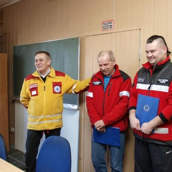 Podziękowania dla Krzysztofa Terleckiego oraz Rafała Fryze w 2013 roku - WOPR Szczecin