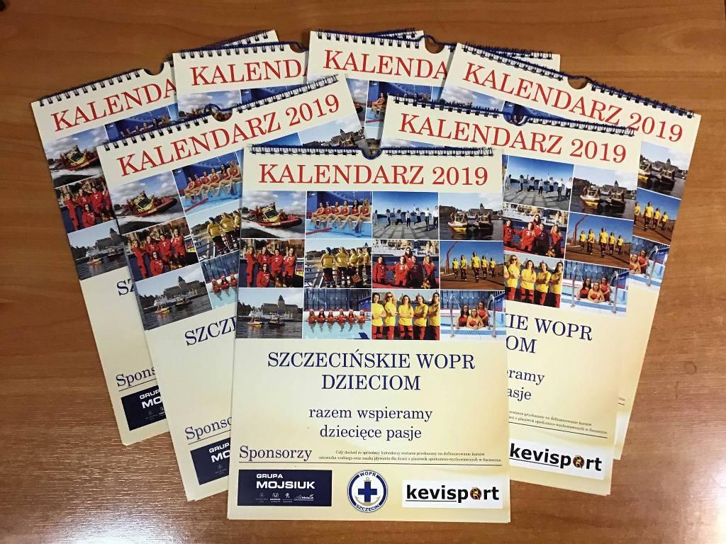 """Już są! Kalendarze na 2019 rok """"Szczecińskie WOPR Dzieciom""""!"""