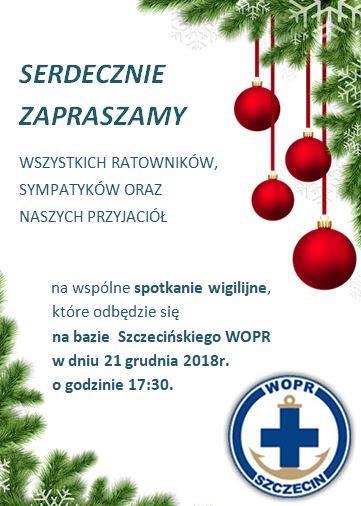 Zaproszenie na wigilie WOPR
